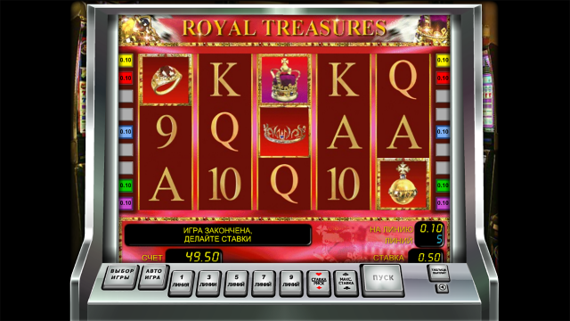 Характеристики слота Royal Treasures 9
